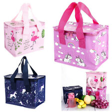 Girls Kids Unicorn Lunch Bags Insulated Cool Bag Picnic Bags School Lunchbox