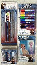 Disney Frozen 2 Markers, Crayons, SCENTED Pencils & Eraser School Supplies-NEW