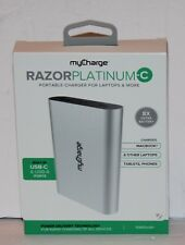 myCharge Razor Platinum-C Battery Pack, Silver, RZ13V-A NEW IN BOX! 13,400 mAh