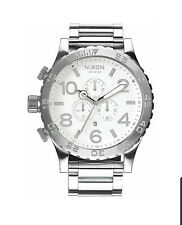 Nixon Watch 51-30 CHRONO Highpolish Silver White A083-488 - SEXY WATCH - HURRY
