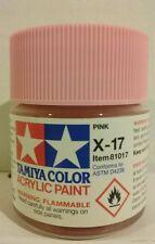 Tamiya acrylic paint X-17 Pink 23ml.