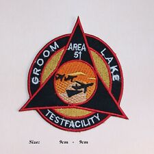 More details for area 51 groom lake testfacility iron/sew on patches usaf embroidered badge