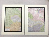 1920 Antico Impronte Mappa Di Cecoslovacchia Czech Republic Praha Street Plan