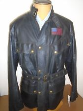 Belstaff Waxed Cotton S Icon Racing 4 Belted Moto Jacket NWT EU 48 US Large $895