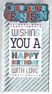 Grandson Birthday Card ' To  A Special Grandson Wishing You A Happy Birthday'