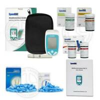 Speed GUC Cholesterol UA Blood Glucose Test Meter Strip Monitor Self Testing Kit