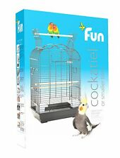 "Rainforest ""FUN"" Bird Cage Arizona in Black Parakeets Cockatiels Small Conures"