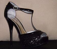 Women's shoes size 8.5 Black Glitter High Heels