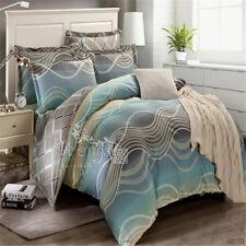 Striped Doona/Quilt/Duvet Cover Set Double/Queen/King Bed Size 100%25 Cotton Blue
