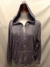 Victoria Secret Womens Size XL Zip Front Hooded Jacket Gray Cotton Blend N37