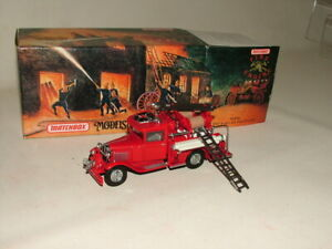 MATCHBOX MOY FIRE ENGINE SERIES DIECAST BOXED YFE06 1932 FORD AA  TRUCK