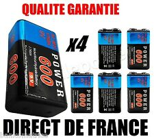 ★ 4 Piles 9V 600mAh Ni-MH Rechargeable - DIRECT DE FRANCE NEUF ★