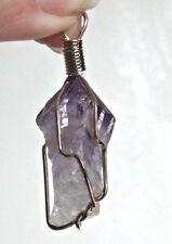 Pendentif brut  AMETHYSTE 3,5 cm / 13 g métal doré
