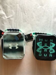 Under Armour Thermos Insulated Lunch Box Hard Shell Liner Black Green New  Tags