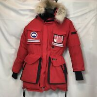 Canada Goose Arctic Parka Red Black Down Fill Snow Mantra Hooded Jacket S NWOT
