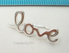 1x STERLING SILVER CLIP LOVE WORD CUFF CLIMBER HOOK EARRINGS for RIGHT EAR #2548