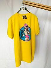 Fishbone Vintage '01 Manga Style Anime Chick Yellow T-shirt short sleeve size:M