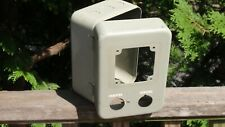 """Vintage Metal Electrical Breaker Circuit Box Panel 8 X 5.5 """" Start Reset"""