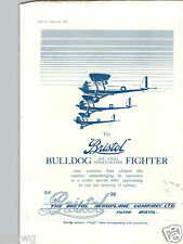 1932 PAPER AD Airplane Bristol Bulldog All Steel Single Seater Fighter Aeroplane