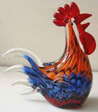 Coloured Glass Chicken (chook)- 190mm HIgh