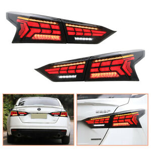 For Nissan Altima 2019-2021 Dark LED Tail Lights Sequential Signal Replace OEM