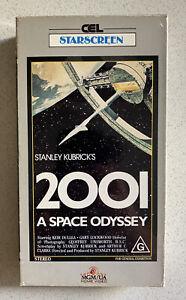 2001 - A SPACE ODYSSEY [VHS] CEL MGM UA 1968 Cardboard Video Tape Kubrick VGC!