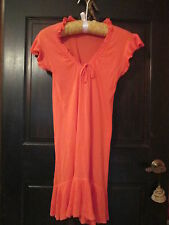 FEMININE Qi UnStructured Dress CoralTangerine SilkCottonSmall