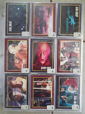 """Star Trek, Lot of 437 Trading Cards, W/ 7-8"""" x 10"""" Large"""
