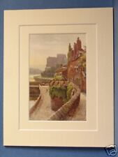 CHESTER CITY WALLS BRIDGEGATE VINTAGE MOUNTED PRINT OLD