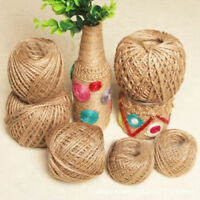 10-50M 3Ply Burlap Natural Fiber Twine Rope Cord String Craft DIY Gift Decor