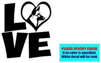 "LOVE with German Shepherd Dog Vinyl decal sticker Car Truck Window Laptop 6"""