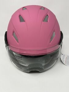 BRAND NEW Kylin Bicycle Bike Helmet with Visor Face Shield, Pink, 56-61cm Size