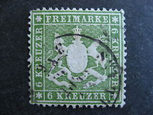 Germany Wurttemberg error, Sc 26 used, with print flaw check it out!