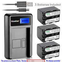 Kastar Battery LCD Charger for Sony NP-QM71D Sony DCR-TRV30 DCR-TRV33 DCR-TRV300