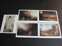 Set of (5) Vintage Postcards  - Arts by Thomas Cole And James McNeil Whistler.
