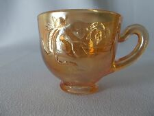 Fenton Rare Carnival Glass Kittens Child's Cup-has Radium look!