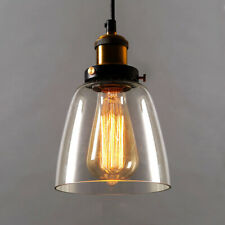 Modern Pendant Light Vintage Kitchen Bar Hanging Ceiling Fixture Glass Lampshade