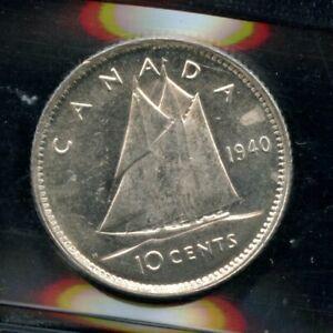 1940 Canada Ten Cent - ICCS MS-63 Cameo Cert#MV990