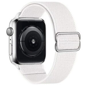 Woven Stretchy Fabric Nylon Band Apple Watch Strap iWatch Series SE/6-1 metal