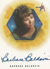 "Star Trek 35th Anniversary - A26 Barbara Baldavin ""Ens Martine"" Autograph Card"