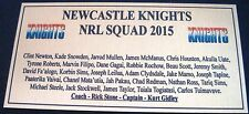 NRL NEWCASTLE Knights  Squad 2015 Plaque Gold  free post 120mmx60mm