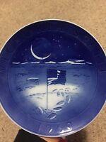 Moon Landing Blue & White Porcelain Plate 1969 Victoria Spatii Royal Copenhagen