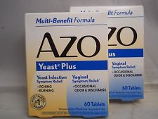 AZO Yeast Plus tablets, 60 Tablets each (2pk bundle) exp 2019