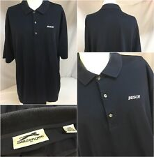 Slazenger Busch Beer Polo Golf Shirt XL Blue 100% Cotton Hong Kong Mint YGI 7041