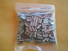 100 NICKEL WIRE LEADER CRIMP SLEEVES GOOD FOR 5, 10, 15 LBS. TEST #20L .041 ID.