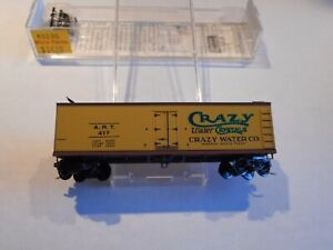 MICRO TRAINS-CRAZY WATER CO, WOOD SIDED ICE REEFER, NIB, RD#417