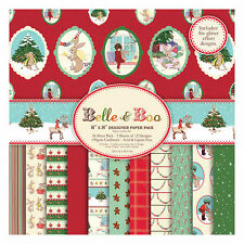 "'Belle and Boo' Christmas 8"" x 8"" Designer Paper Pack FULL PACK *Free UK P+P*"