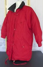 XS-X-Small-London Fog Mens-Boys Red Down Hooded Zip-Up Heavy Winter Jacket Coat