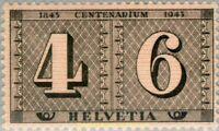 EBS Switzerland 1943 - Centenary of Swiss Stamps - Michel 416 MNH**