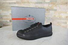 Prada Gr 41 Sneakers Schuhe shoes 3E5876 Kalbsleder black nero NEU UVP 370 €